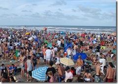 Playas del Partido de La Costa en pleno verano