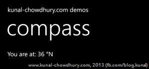 Windows Phone Compass Demo
