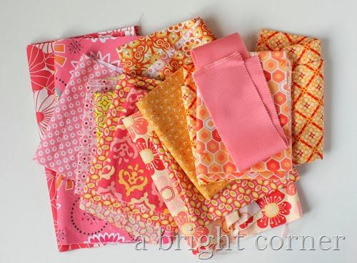 Sweet pink fabrics