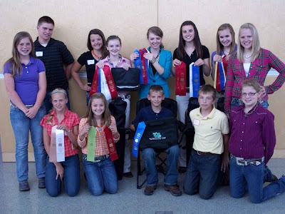 Front row left to right: Emma Stout, Erin Chalupa, Morgan Brinning, Logan Sieren, Luke Greiner, Shay Becker.  Back row left to right: Ryan Chalupa, McKenna Brinning, Macy Marek, Lexi Marek, Cara Hahn, Sarah Greiner, and Jordan Stout.  Photo courtesy:  Washington County Extension.