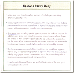 Tips for a Poetry Study pg 151 The No-Nonsense Guide to Teaching Writing