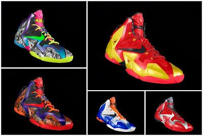 nike lebron 11 id allstar 2 00 gumbo Nike Unleashed Endless Possibilities with LeBron 11 Gumbo iD!