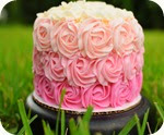 Rose Ombre Cake 1
