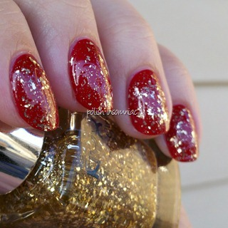 NYX Gilded Glitter over Deborah Lippmann My Old Flame 3