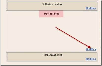 post sul blog modifica