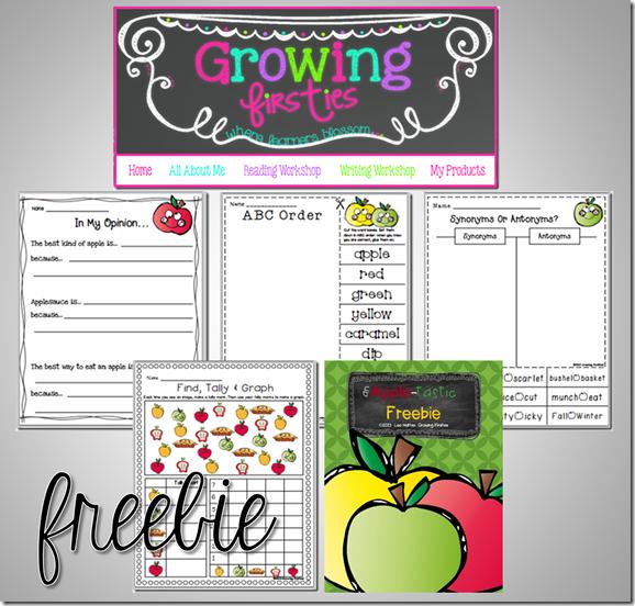 Apple Freebie from Growing Firsties