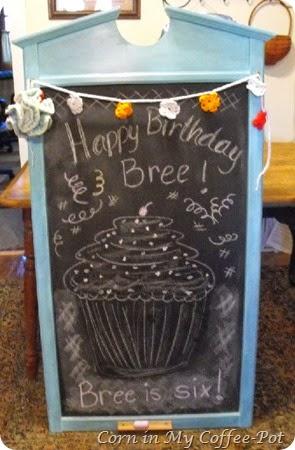 Brees chalk board
