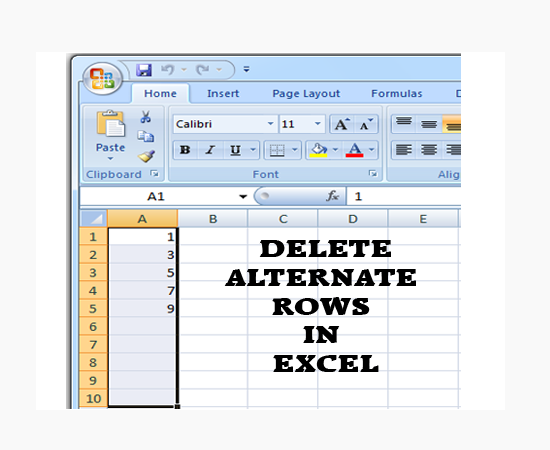 delete-altenate-rows-excel