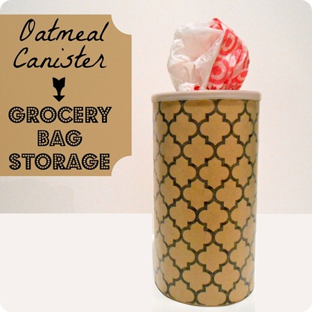 food canister organization