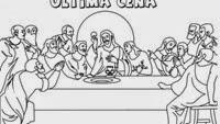 ultima cena jesus colorear (2)