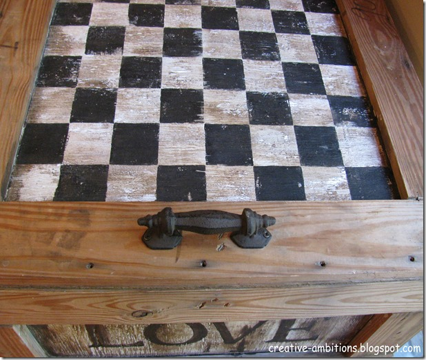 Shipping Crate Table Checkerboard
