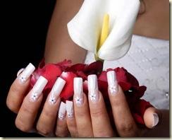 uñas diseño novias