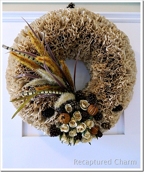Recaptured CharmFall Coffee Filter Wreath