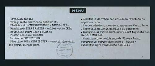 cartoncino menu