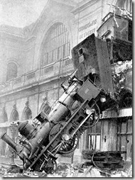 Accident de train à Montparnasse en 1895