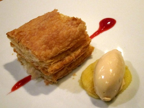Apple Millefeuille, caramel ice cream