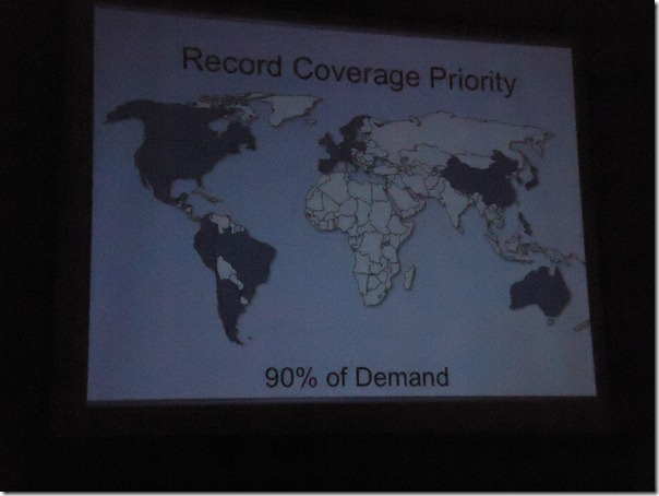 Map showing 90% of FamilySearch record priority