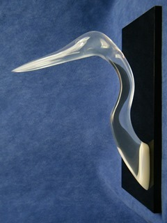 Blanchette acrylic bird head sculpture