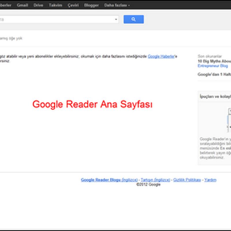 Blogları Takip Etmenin En İyi Yolu: Google Reader