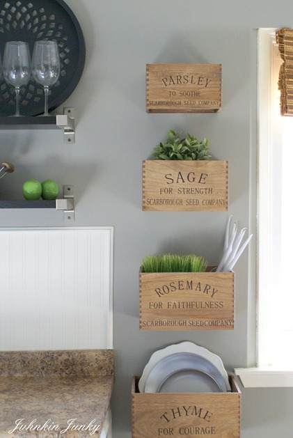 rustic herb crates at www.junkinjunky.blogspot.com