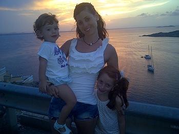 mi mujer y mis peques en la manga puesta de sol 2013