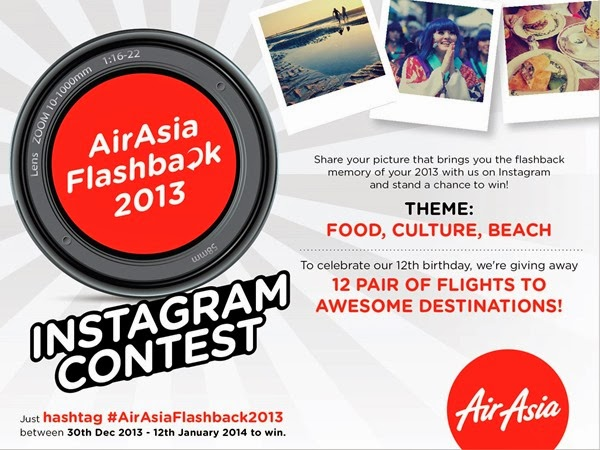 Air Asia Flashback 2013 Instagram Contest