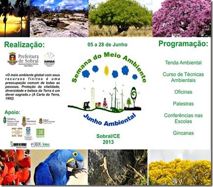 FOLDER SEMANA DO MEIO AMBIENTE 2013
