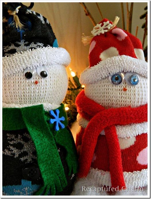 Sock Snowman Sock Santa 043a
