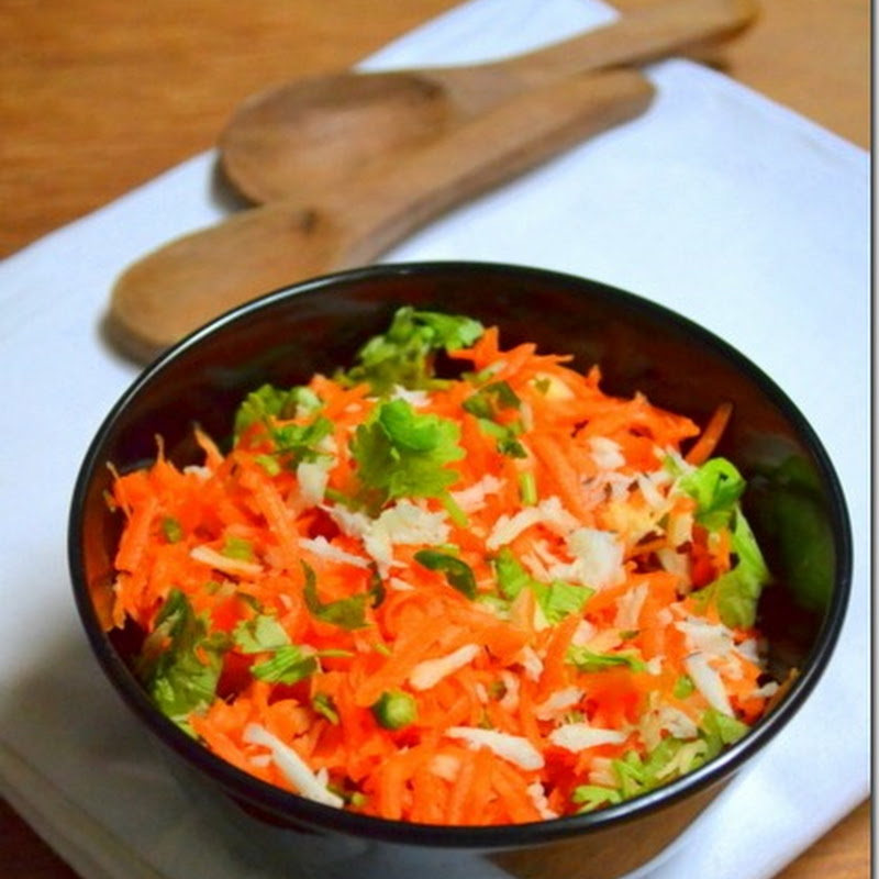 Carrot & Coconut Salad | Oil Free Cooking