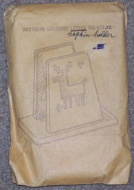 "St. Labre Indian School ""Northern Cheyenne Letter (or napkin) Holder"", original packaging"