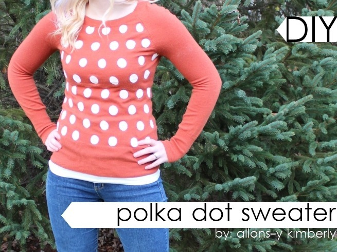 DIY Polka Dot Sweater | allonsykimberly.com