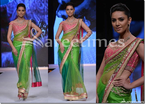 Day_3_IIJW_Green_Shimmer_Faux_Georgette_Saree