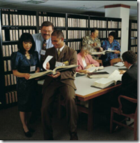 The Family Group Records Collection was originally available in binders in the Salt Lake Genealogy Library