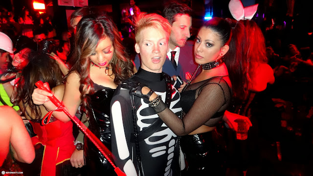 matt & the BDSM girls at Maison Mercer's Halloween Party in Mississauga, Ontario, Canada