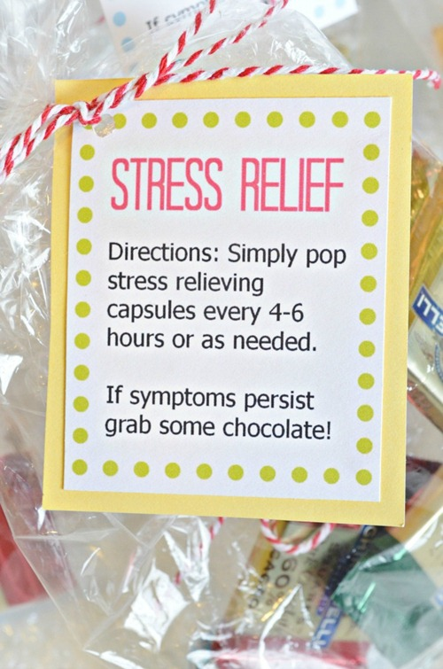 Simple Stress Relief Gift &amp; free printable