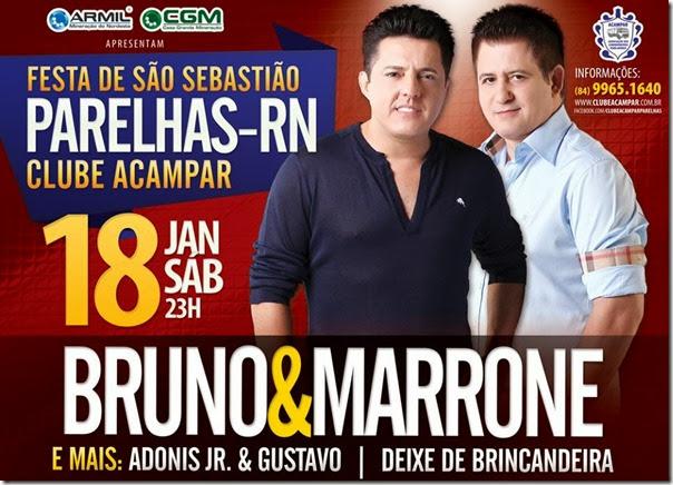 CARTAZ DE BRUNO E MARRONE