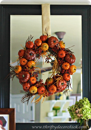 fall mantel decorating