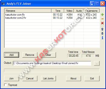 Software Untuk Menggabungkan File Video FLV