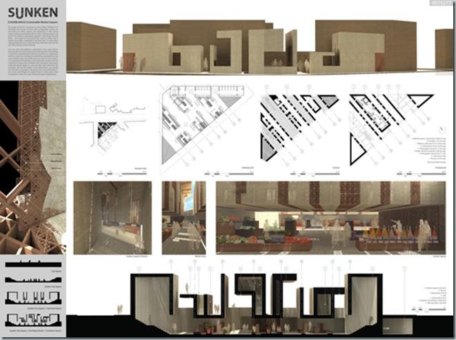 CASABLANCA_international architecture competition_AC-CA_Plaza de un Mercado Sustentable_Sustainable Market Square _Place d'un Marché Ecologique_Mencion de Honor_6