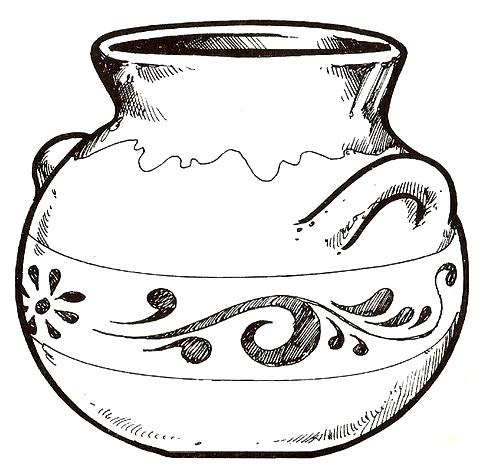 Imagen para colorear de un jarron - Imagui