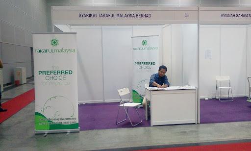 booth Takaful Malaysia di pameran beli barangan buatan malaysia