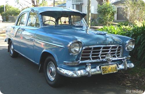 Vintage Blue Car 2