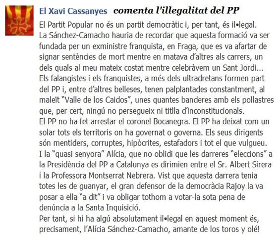 illegalitat del PP per Xavi Cassanyes