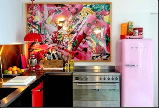 smeg rosa cocina
