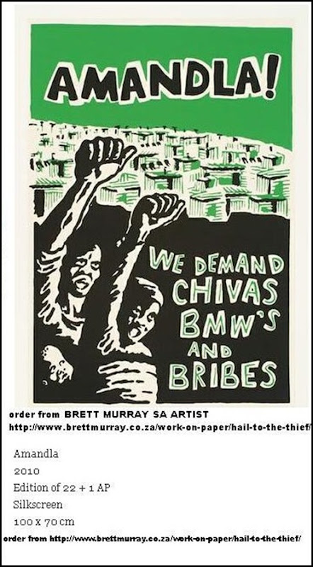 MURRAY Brett artist HAILTOTHETHIEF exhibit AMANDLA POSTER may 2012