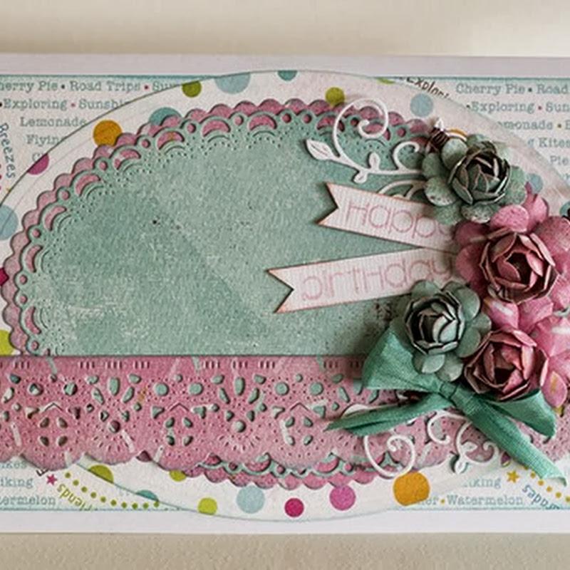 Pastel Birthday Card by Susan Longman