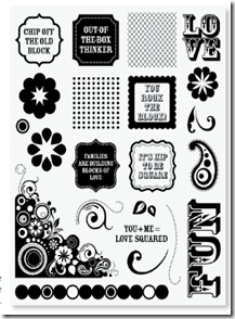 Rock the Block stamp set image
