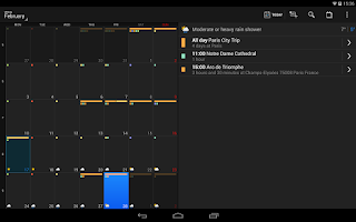 Screenshot of DigiCal+ Calendar