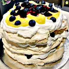 Blueberry & Lemon Meringue Cake