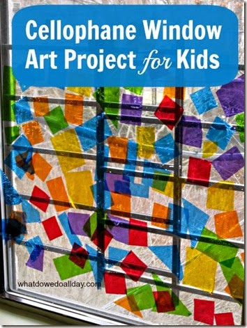 Stained Glass Window Kids Activity - This is such a fun idea for a rainy day and to brighten up the house for toddler, preschool, and kindergarten
